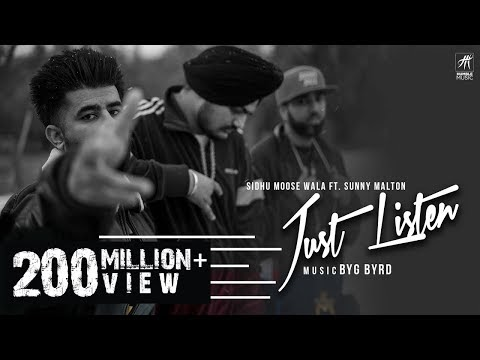 Just Listen Lyrics in punjabi & Hindi - Sidhu moose wala | just listen song download sidhu moose wala