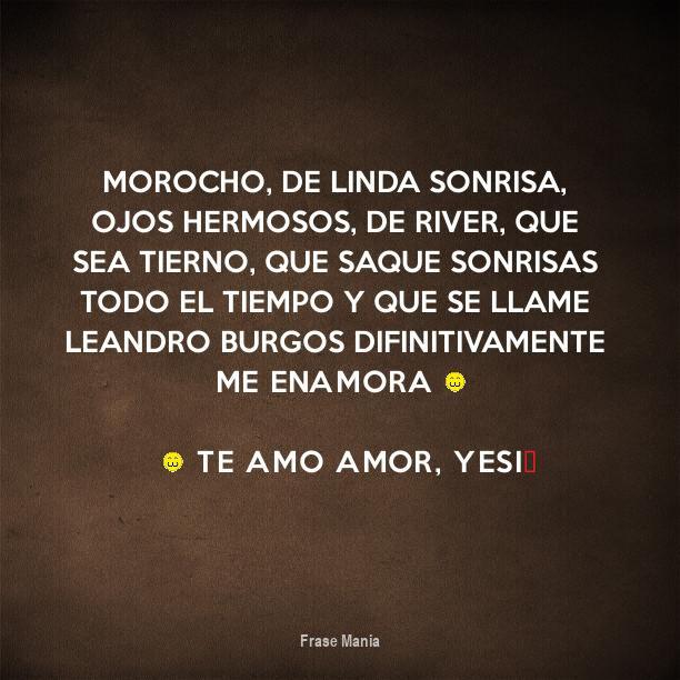 Cartel Para Morocho De Linda Sonrisa Ojos Hermosos De River Que