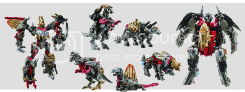 Transformers Power Core Grimstone with Dinobots
