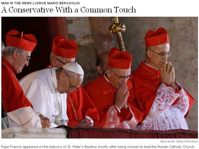 Imagen del artículo sobre el nuevo Papa publicado por The New York Times.