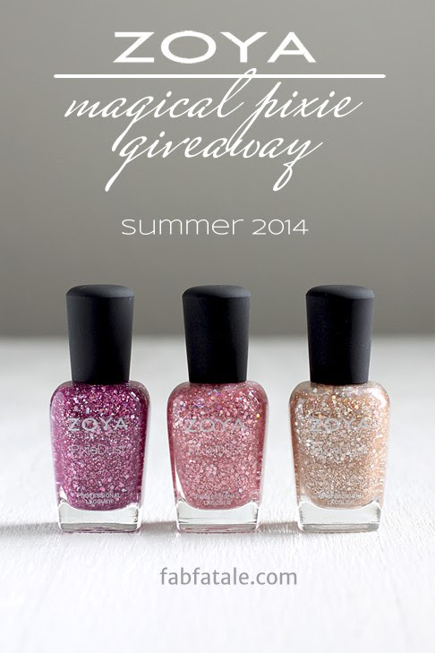 I just entered to win the entire Zoya Magical PixieDust Summer 2014 collection at http://www.fabfatale.com/2014/06/manicure-mondays-zoya-magical-pixiedust-summer-giveaway/ #nailpolish #giveaway #zoya