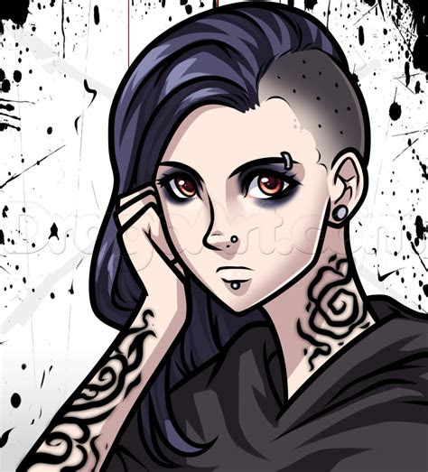 draw  gothic anime girl step  step anime
