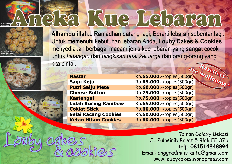 Contoh Brosur Kue Kabar Blok