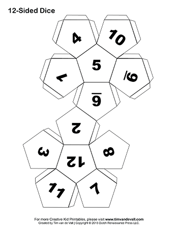 Printable Paper Dice Template Pdf: Make Your Own 6, 10 & 12 Sided Dice