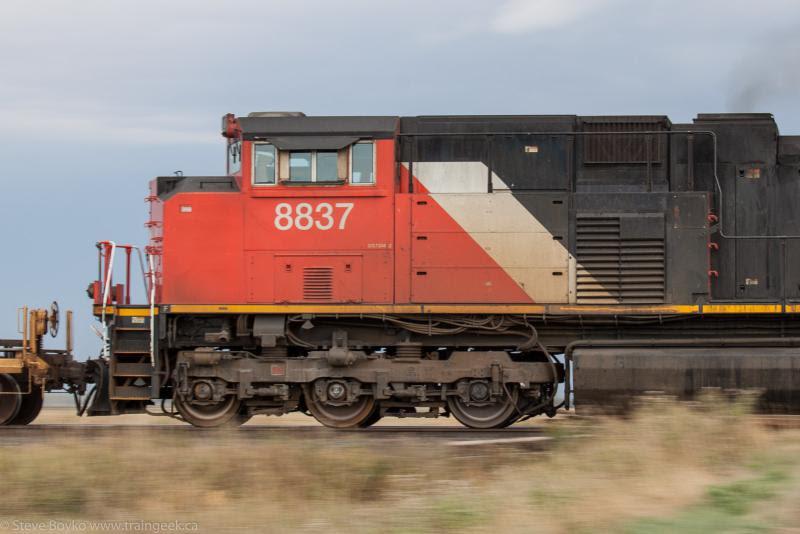 CN 8837 in Winnipeg