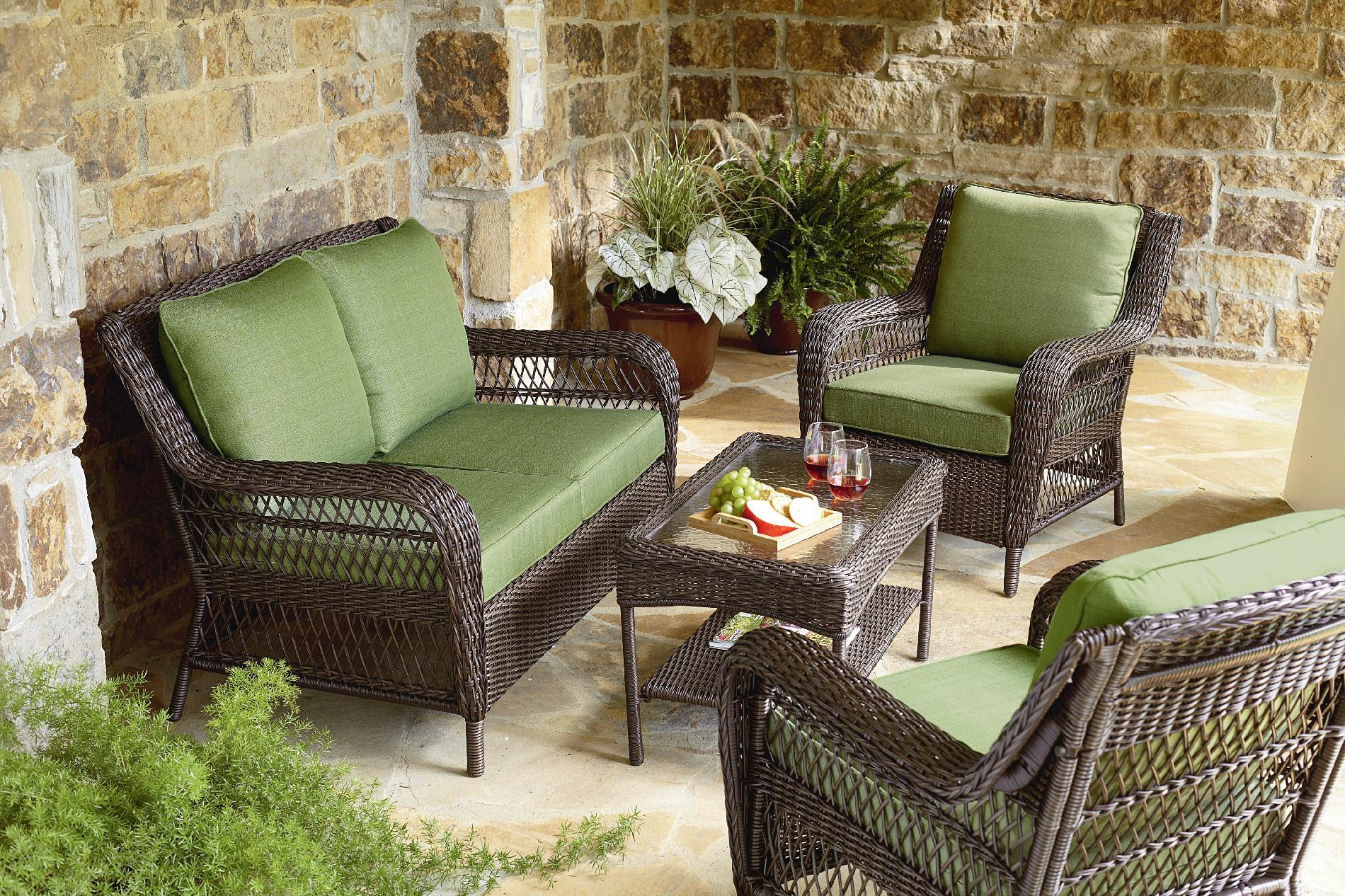 Mason Green Easton 4 Piece Deep Seating set - Outdoor ...