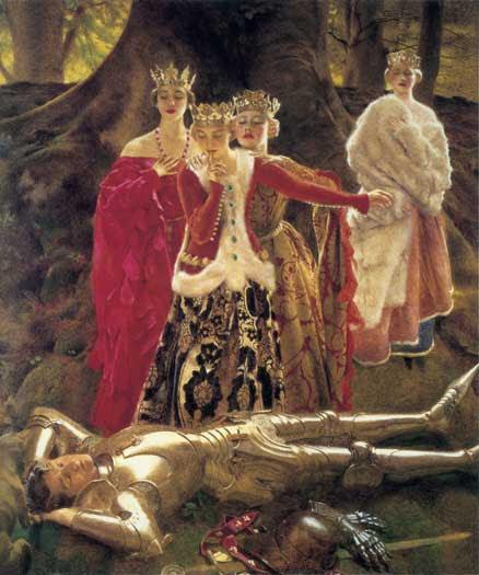 Frank Cadogan Cowper, Four Queens Find Lancelot Sleeping