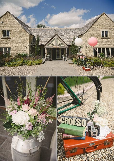 A Rustic Wedding At Hyde Barn With Bride In bespoke