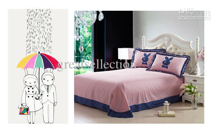 Wholesale Girls Bedding Sets - Buy Embroidered Cute Rabbit Queen ...