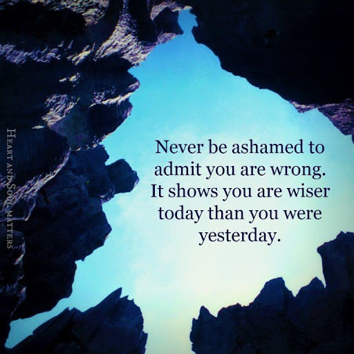 Quotes About Admitting You Were Wrong