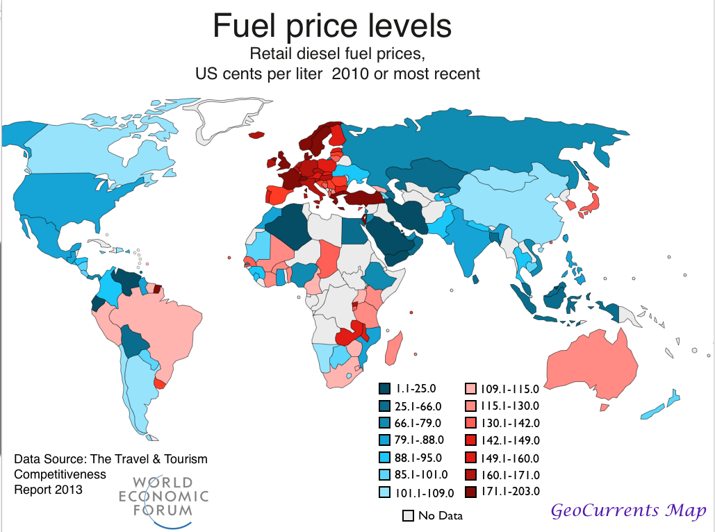 Diesel Prices By State Map World Map Interactive