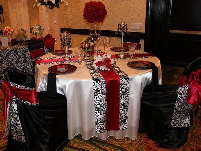Black, White, and Red Damask! Timeless and elegant