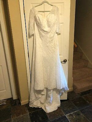wedding dresses, davids bridal, Ivory, W16, worn once, new