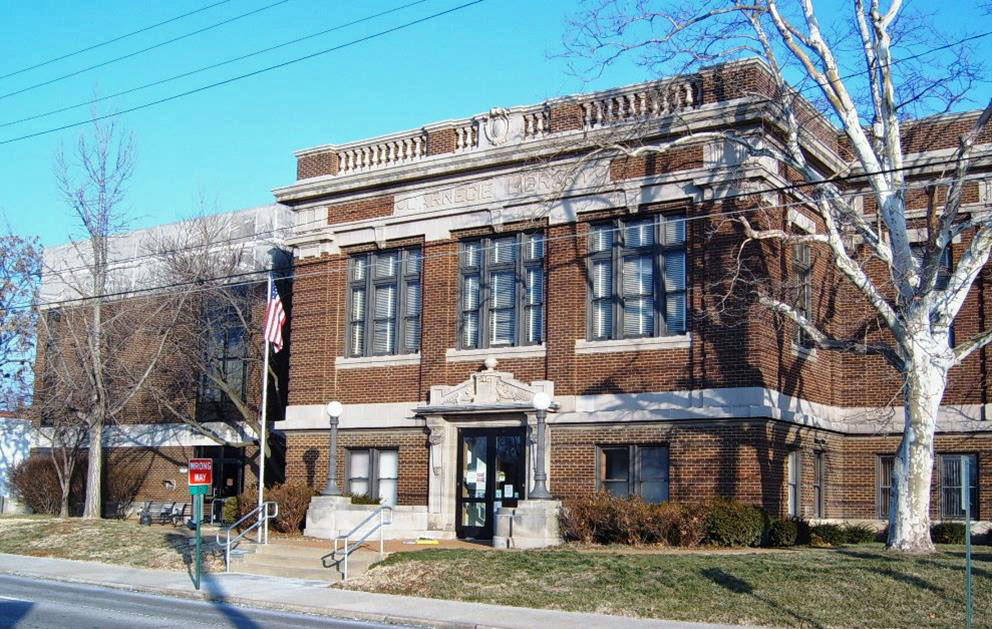 Current view of Belleville (IL) Public Library, funded by Andrew Carnegie in 1913.