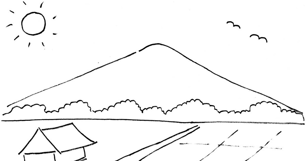 Contoh Gambar Pemandangan Tanpa Gunung - Contoh Jel