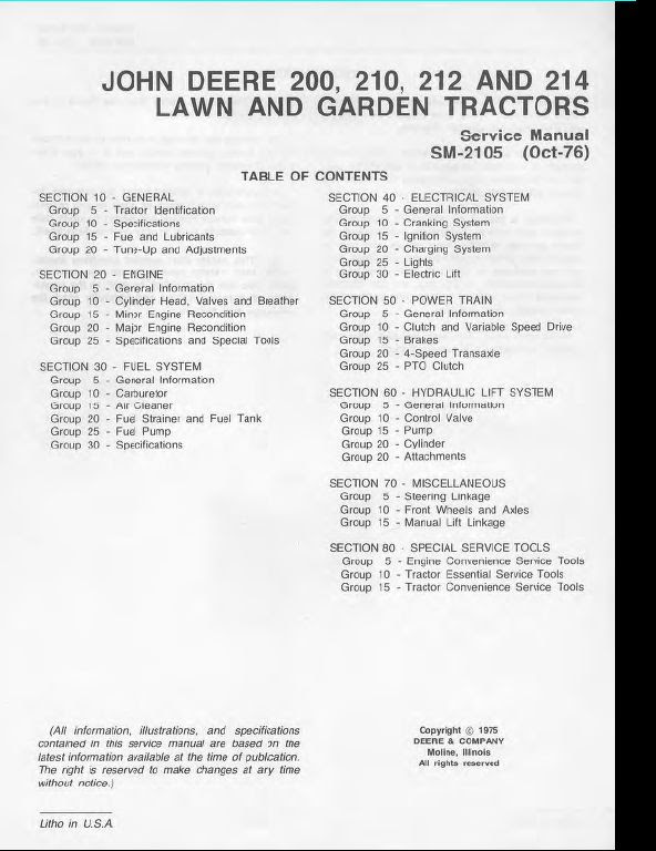 Wiring Diagram  32 John Deere 214 Parts Diagram