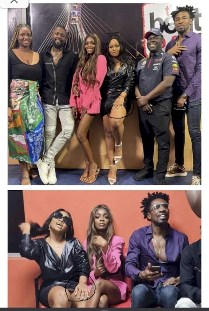BBNaija: Tega shows up for media rounds without wedding ring (Photos)