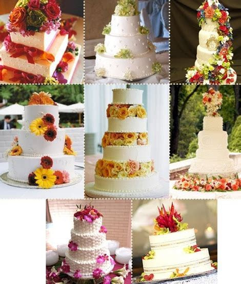 Inspired to Flower: Wedding Cakes with Fresh Flowers