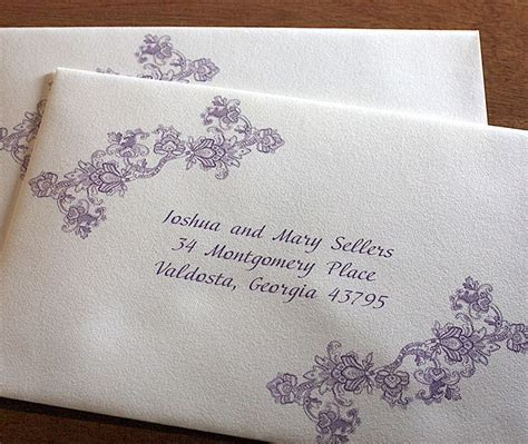 lace custom wedding address labels (700×590