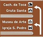Placa Indicativa de sentido (direçao) - Placa diagramada 02