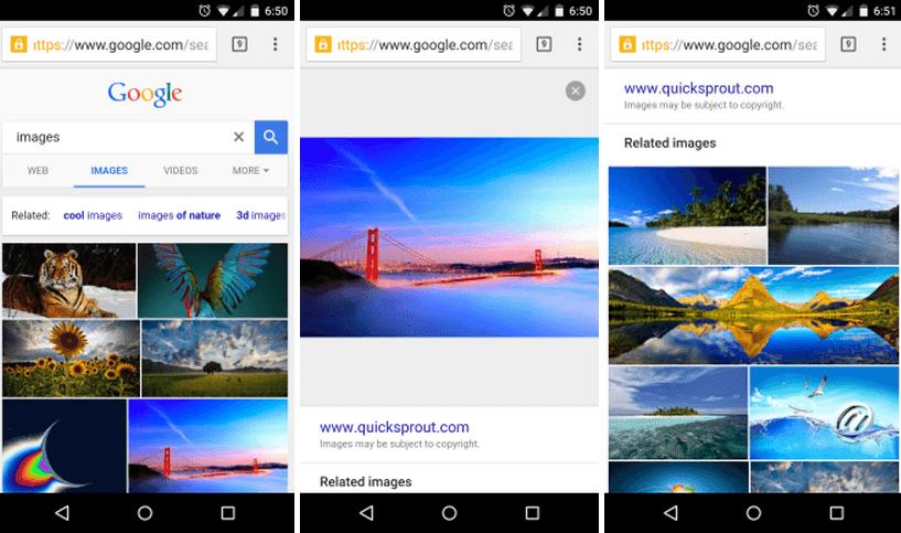 Umgekehrte Bildersuche Android