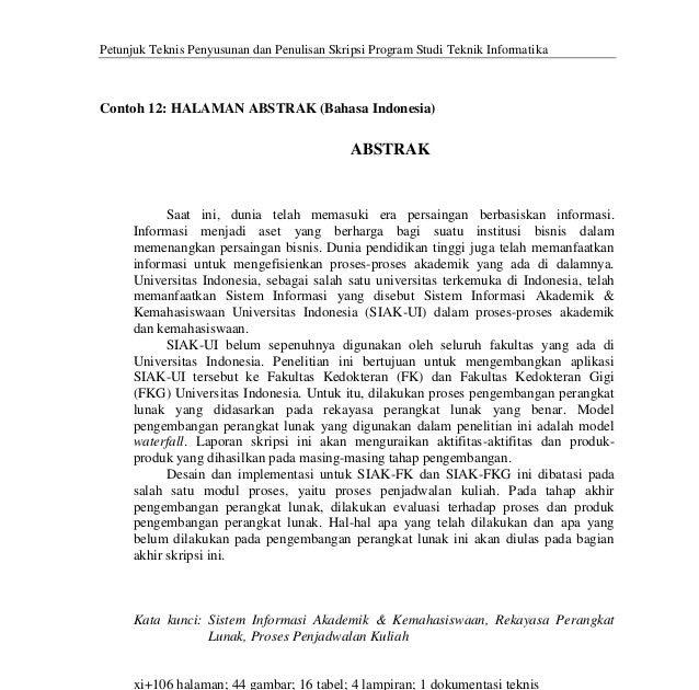Contoh Abstrak Teknik Informatika Surat Rasmi Ra