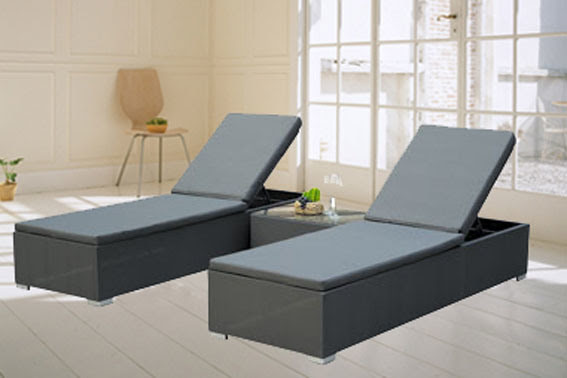 China Garden Furniture Textilene Chaise Lounge (BZ-TT010) - large ...