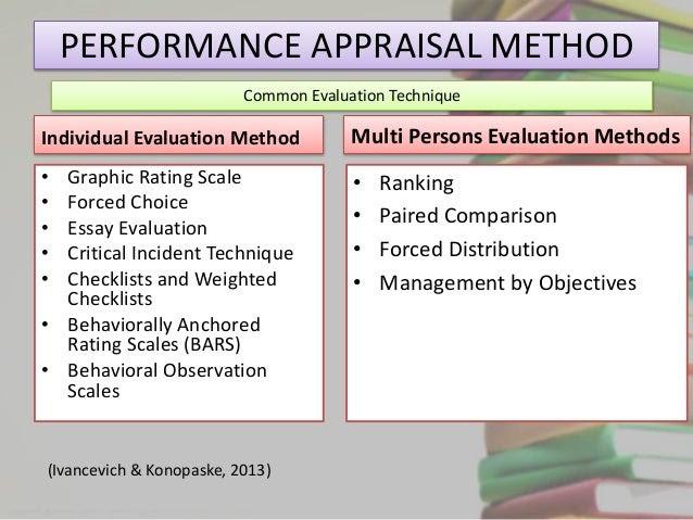 written essay method of performance appraisal