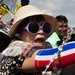 Antigovernment protesters gathered outside the Defense Ministry in Bangkok on Thursday.