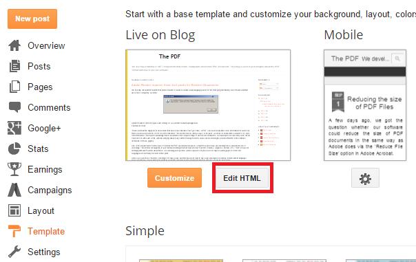 Resultado de imagen de editar html entrada blogger