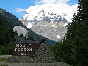 Entrance of Mount Robson Provincial Park, Brit...