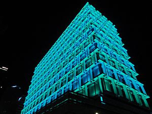 Council House in Perth, Western Australia, lit...