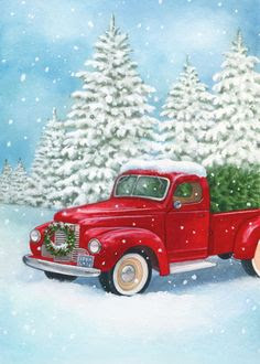 Free Old Truck With Christmas Tree Silhouette, Download ...
