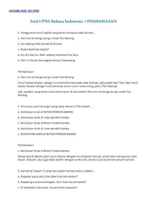 Blog Pendidikan Contoh Soal Assessment Promosi Jabatan