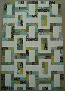 Rectangle quilt. Blocks look easy.