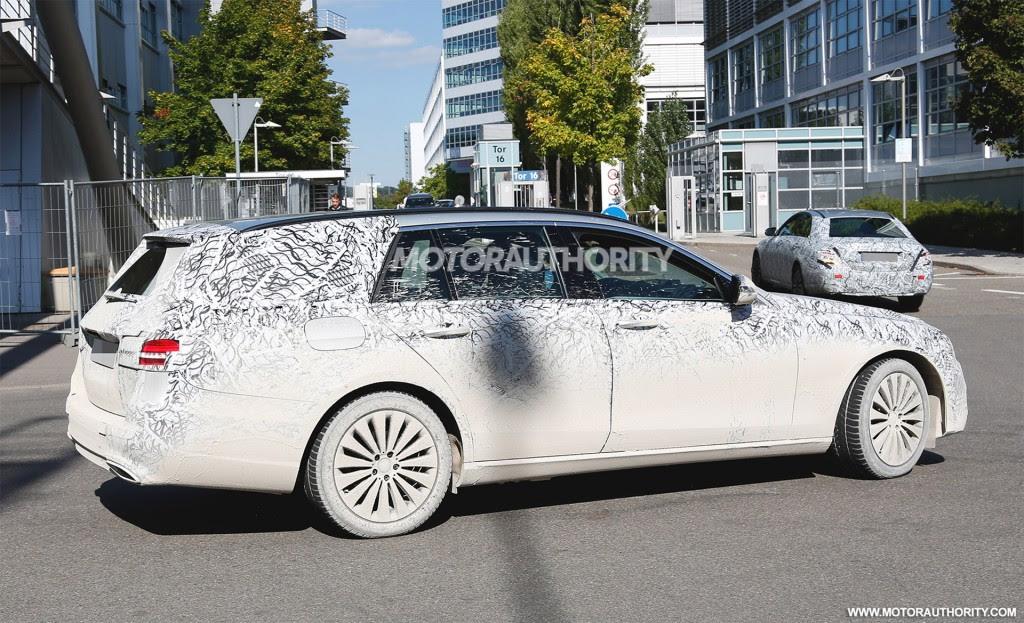 2017 Mercedes-Benz E-Class Wagon spy shots - Image via S ...