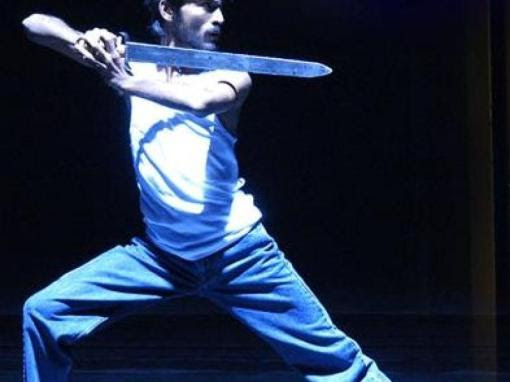 Dhanush with Sword