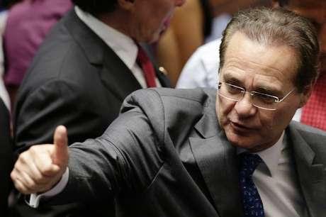 Senador Renan Calheiros (PMDB-AL), reeleito presidente do Senado. 1/2/2015 Foto: Ueslei Marcelino / Reuters
