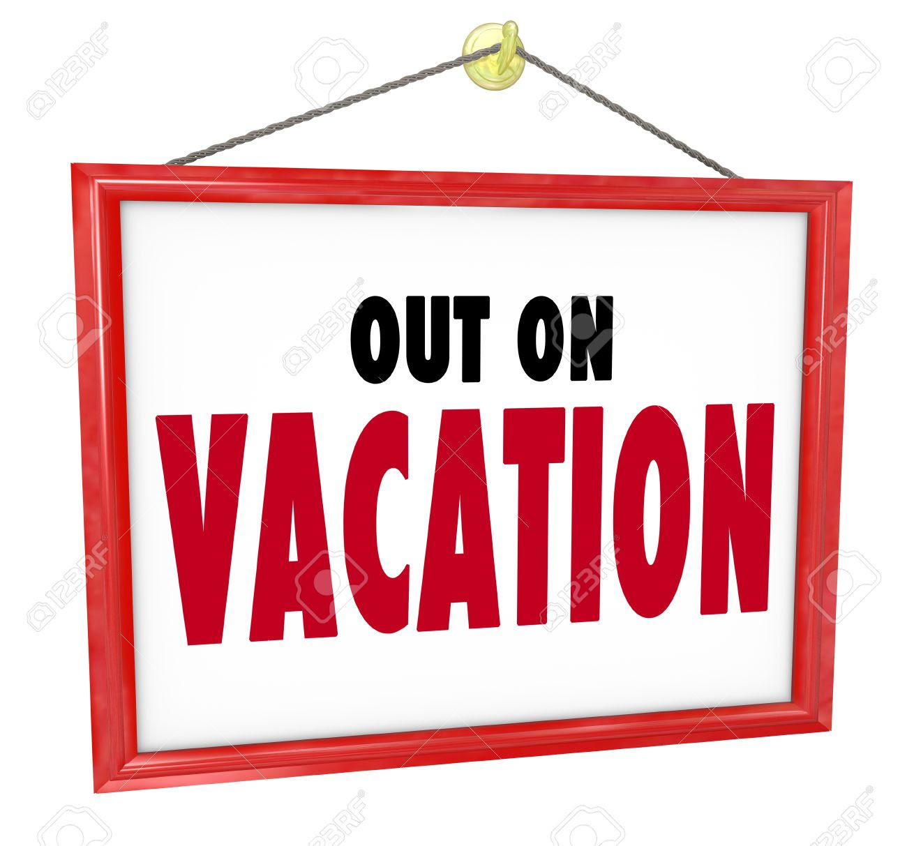 On Vacation Sign | Free download on ClipArtMag