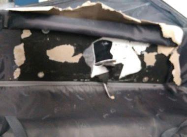 Passageira de voo para Lisboa é flagrada com 1,5 kg de cocaína escondidos em mala