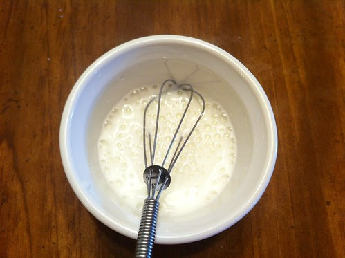 Mixing Buttermilk and Baking Soda