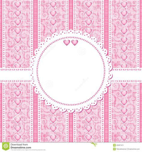 Wedding, Romantic Or Valentine Day Card Template Stock