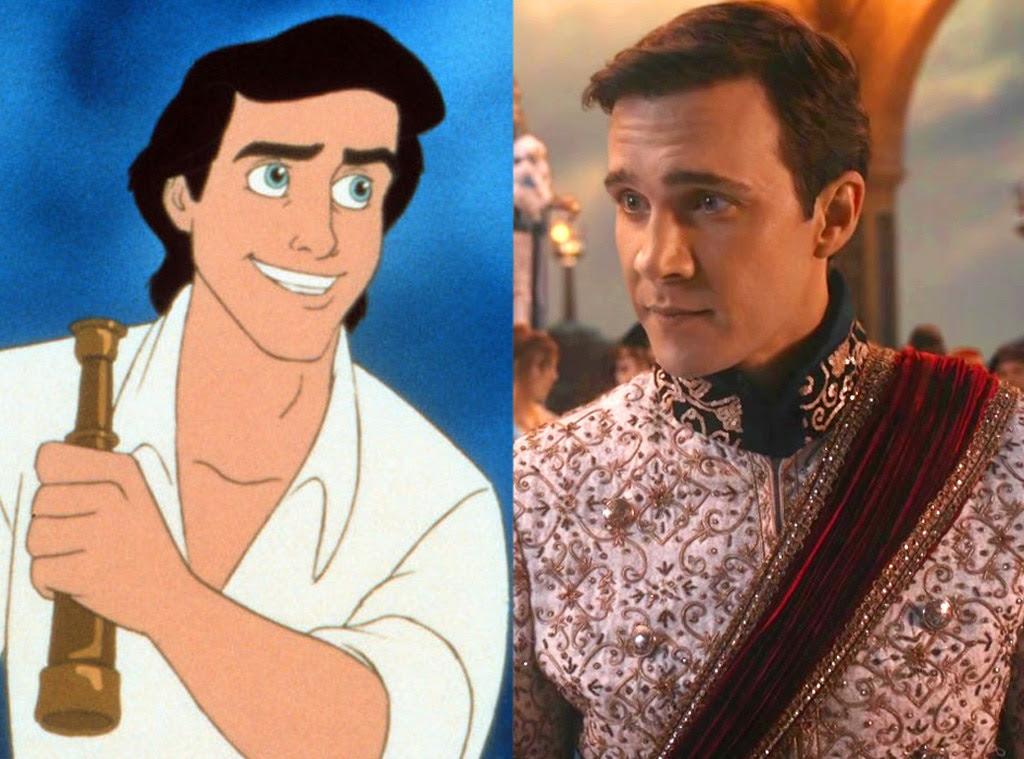 Prince Eric, Animated Disney vs. Live Action Disney