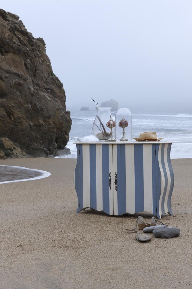 "GRANGE's ""1930's Beach Hut"" Curved Bombe Chest"