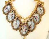 Marie Antoinette Necklace Marie Antoinette Charm Necklace Altered Art Marie Necklace