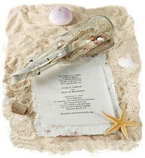 Message in a Bottle Invitation With Optional Mulberry