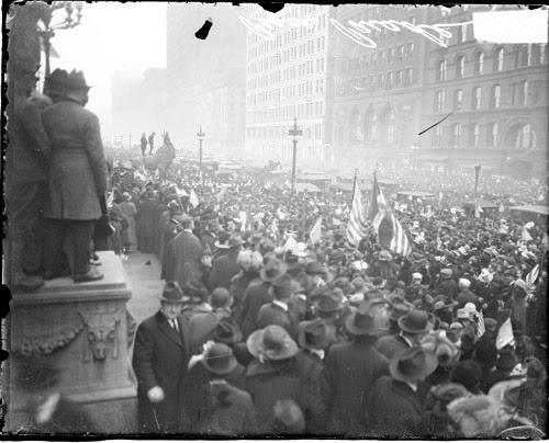 Armistice Day celebration on South Michigan