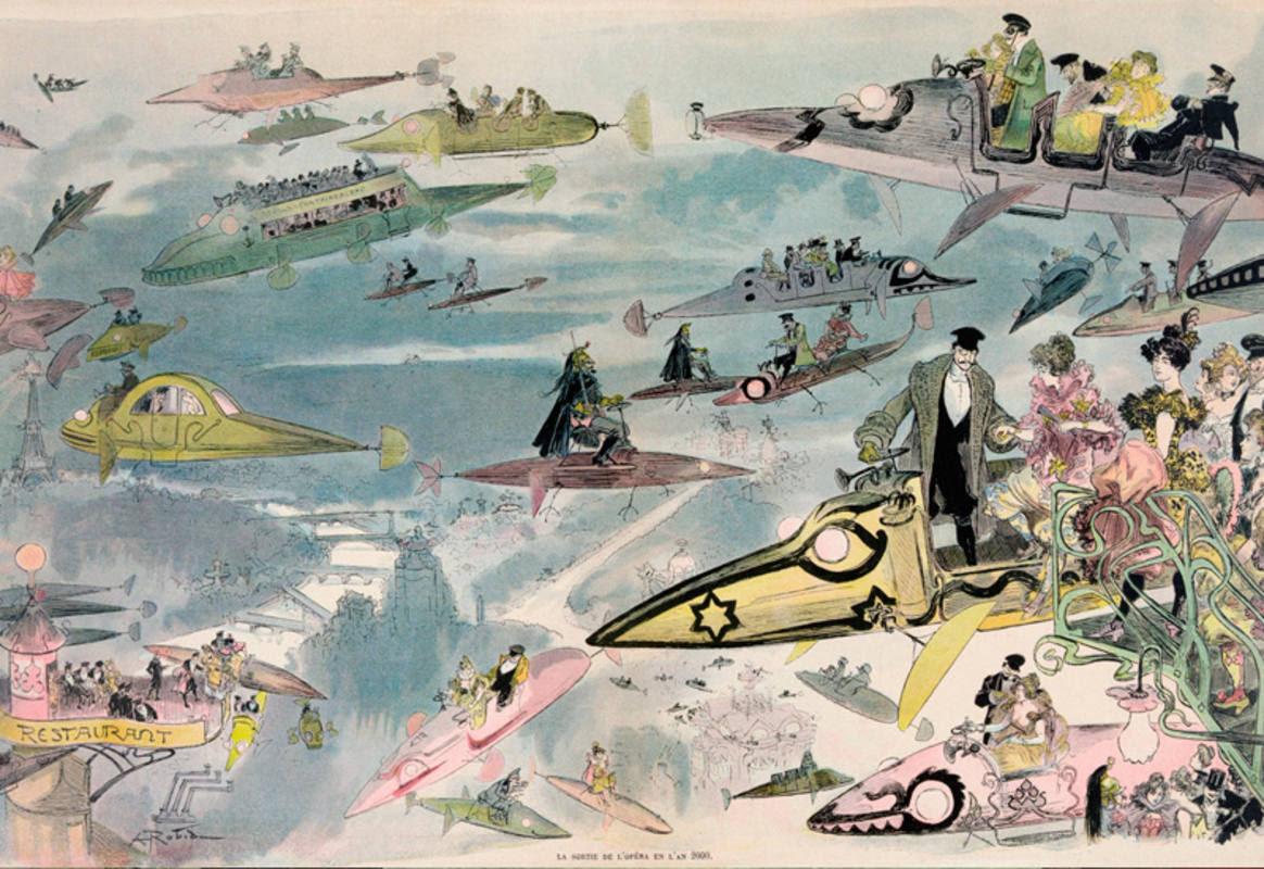 Ilustración de Albert Robida (1848-1926)