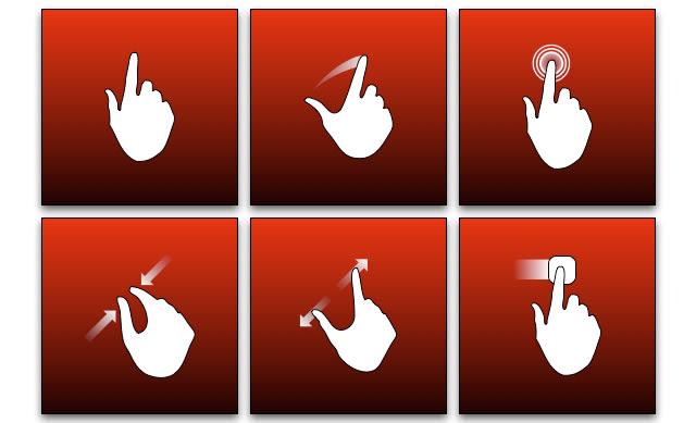 Touchscreen Hand Gestures v2 (OmniGraffle)