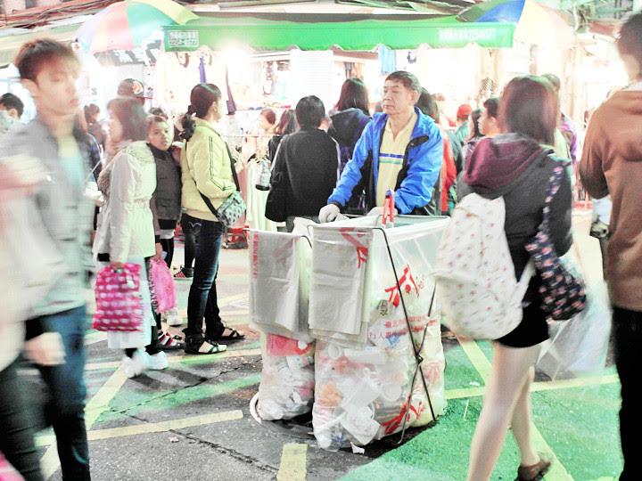 Shilin Night Market rubbish collection area